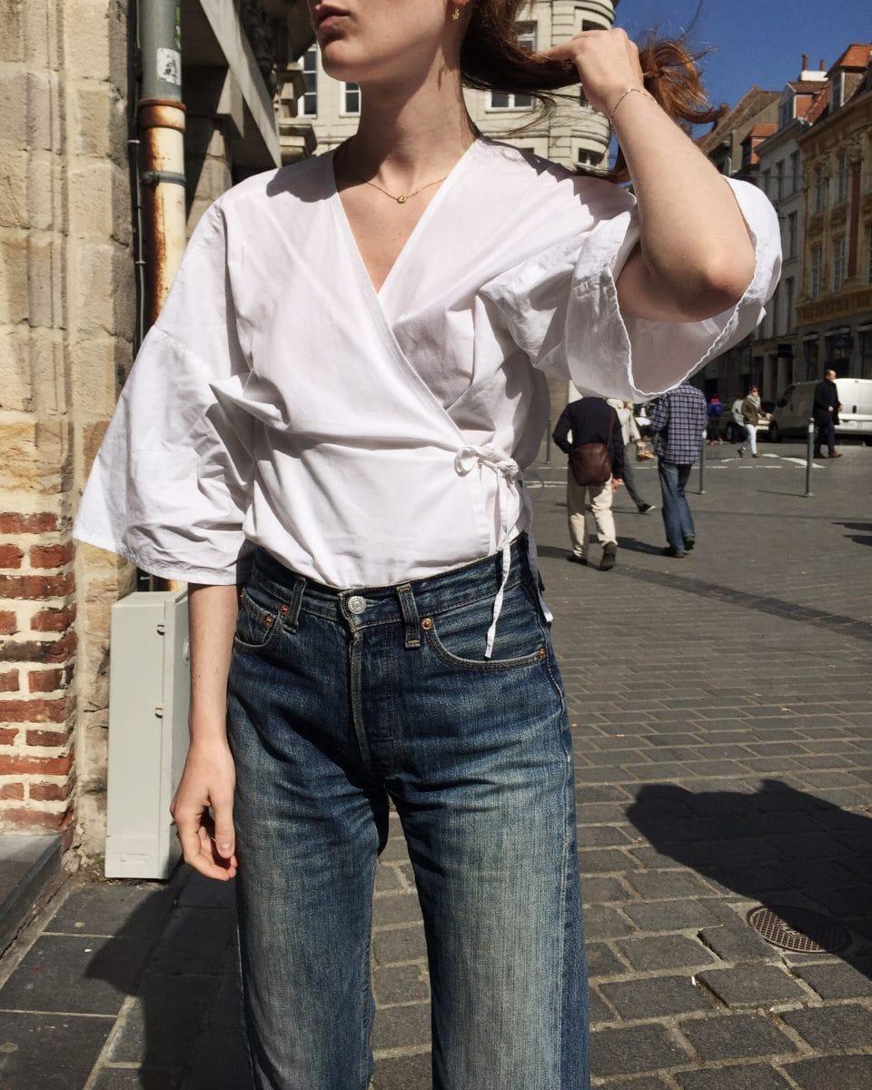 Janin White blouse