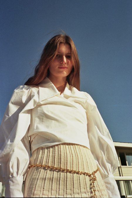 JULIE white cotton blouse - MaisonCléo