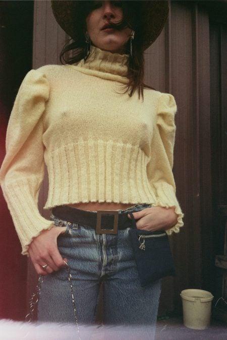 Sac ceinture en jean NANA - MaisonCléo