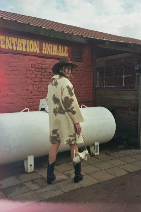SOPHIA cow coat - MaisonCléo