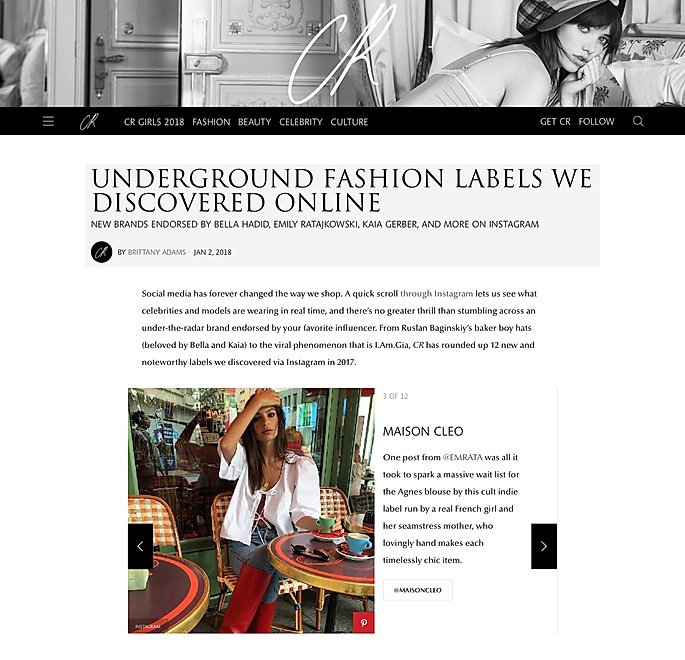 CR fashion book / MaisonCléo