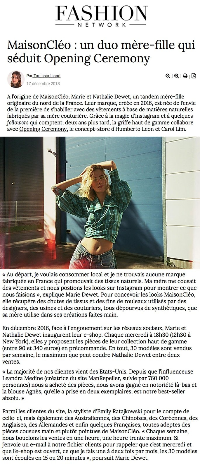 Fashion Network / MaisonCléo