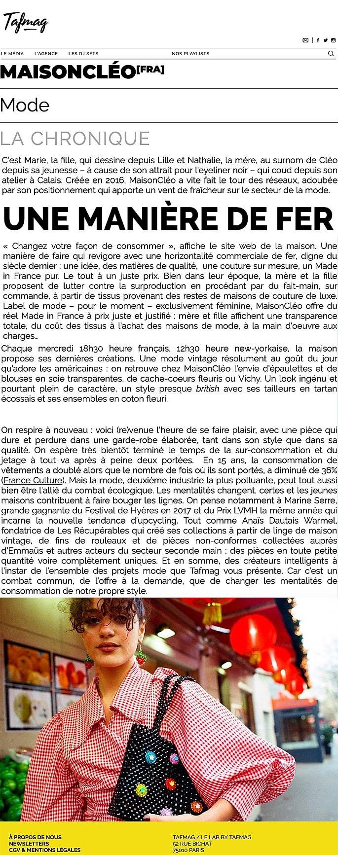 Tafmag / MaisonCléo