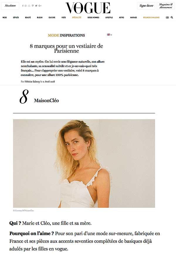 Vogue / MaisonCléo