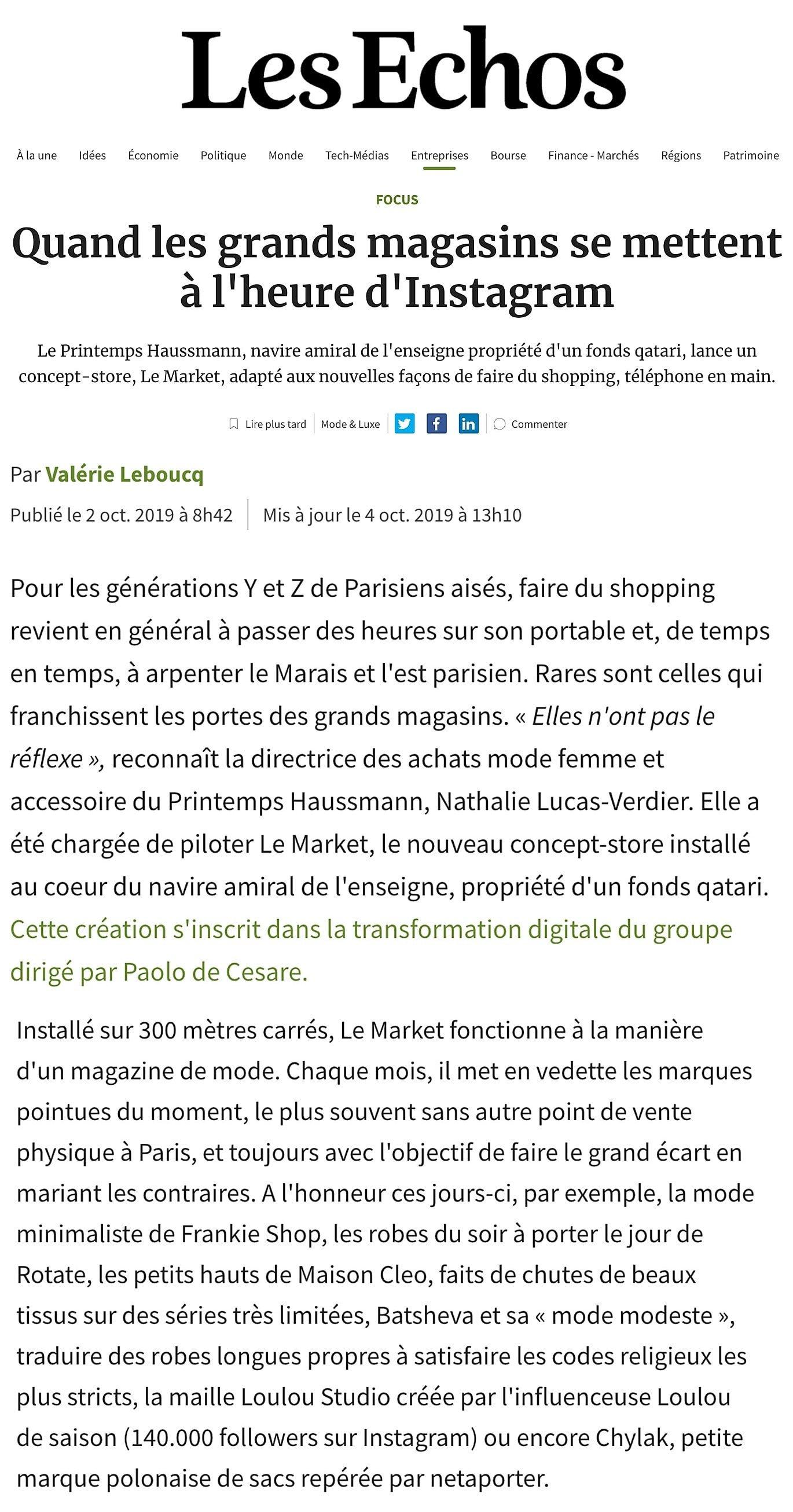 Les echos / MaisonCléo