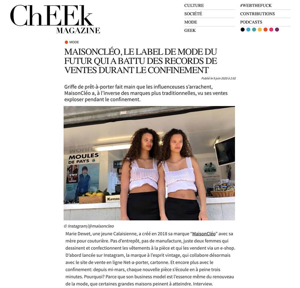 Cheek Mag / MaisonCléo