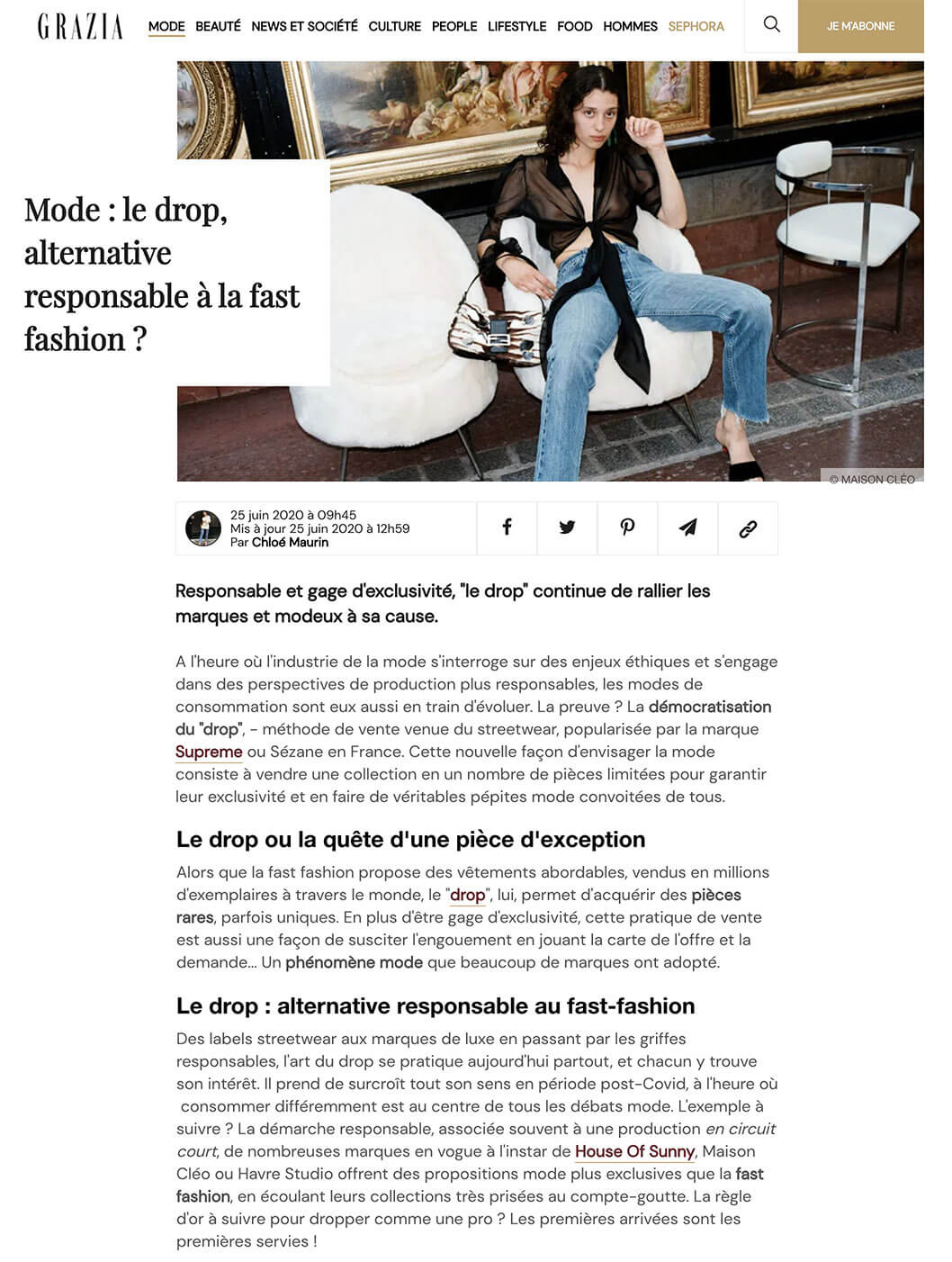 Grazia / MaisonCléo