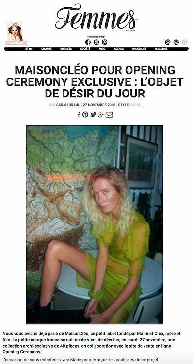 Femmes / MaisonCléo