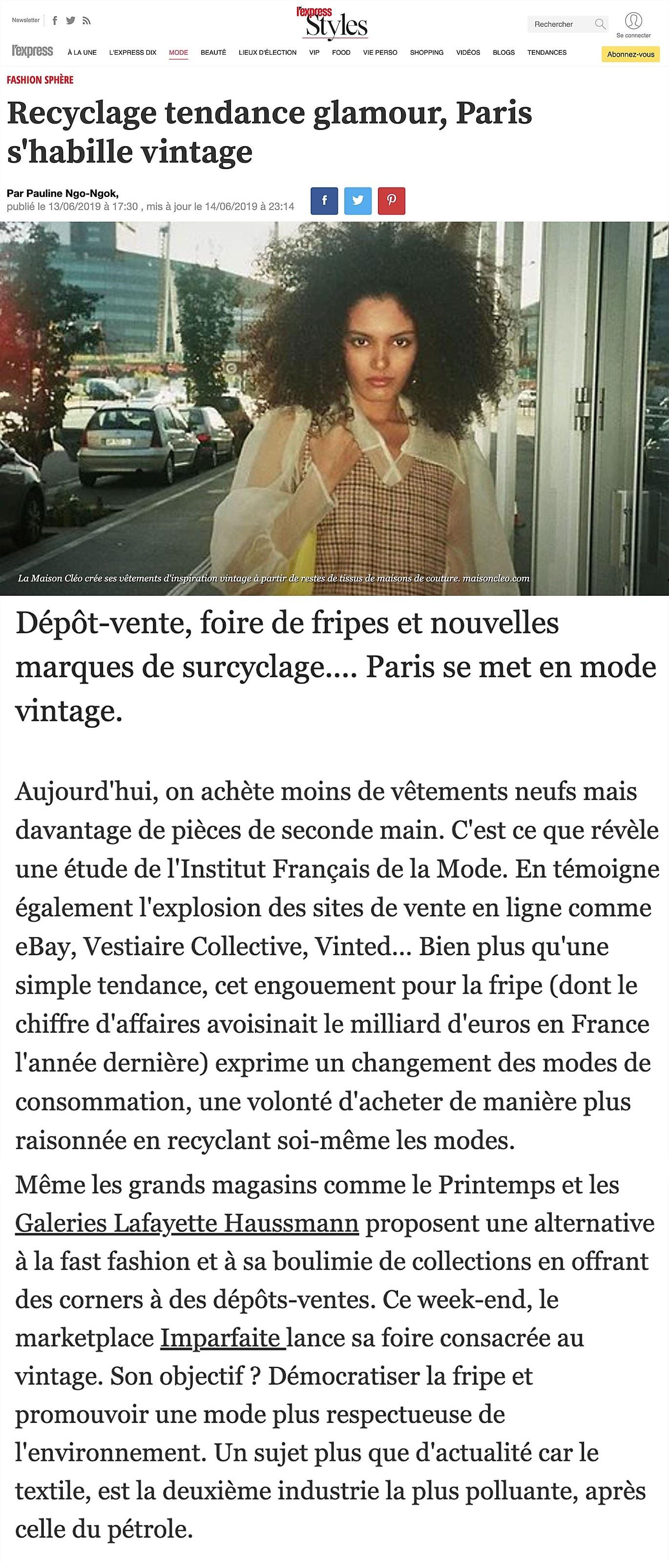 l'express / MaisonCléo