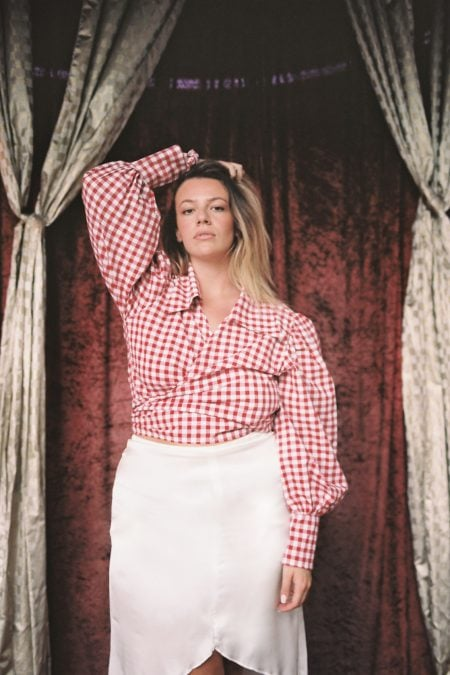 READY TO SHIP - Julie red picnic blouse - MaisonCléo