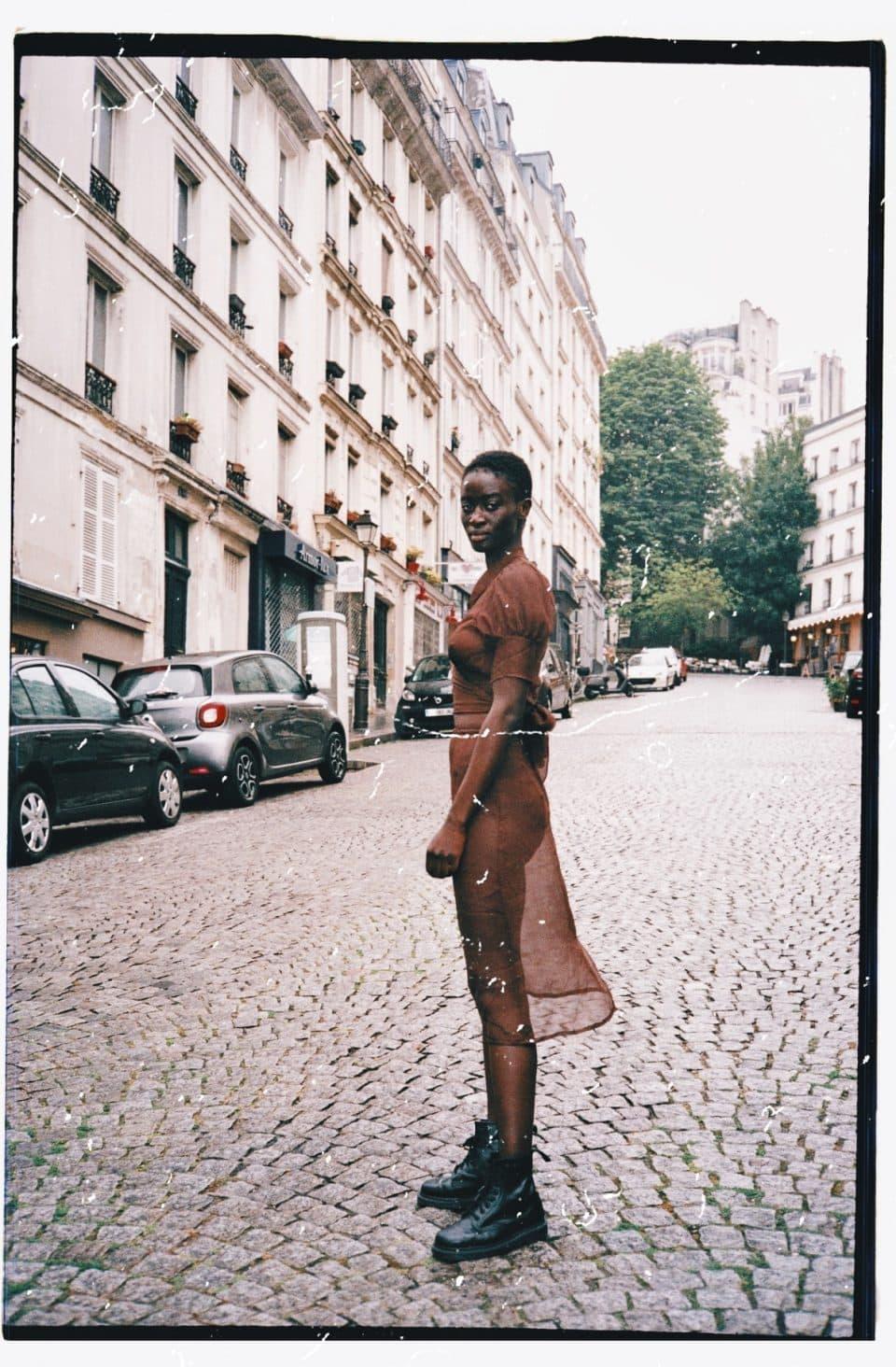 MaisonCléo / Silk brown skirt
