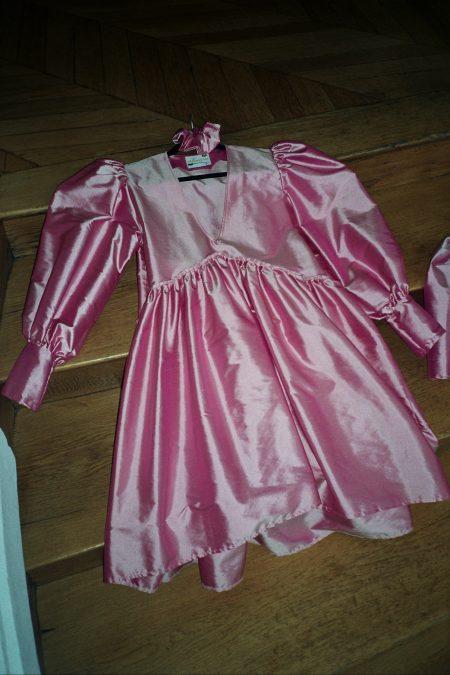 Robe JOSEPHINE soie sauvage rose - MaisonCléo