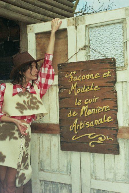 Ready to ship - MINI JUPE LAINE VACHE SOPHIA - MaisonCléo