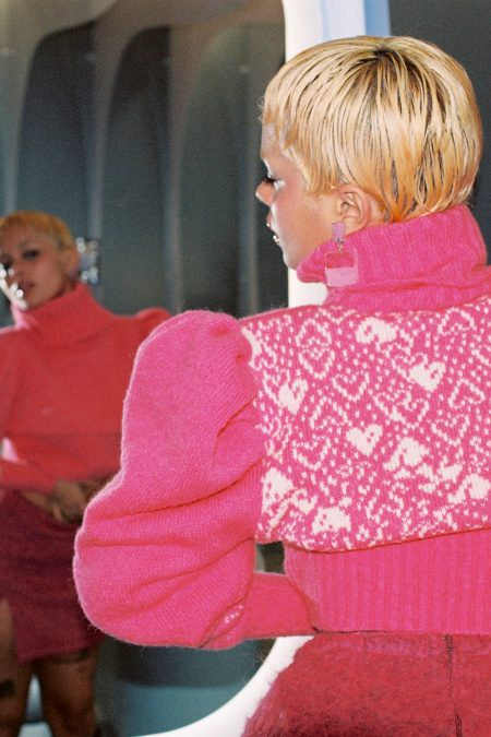 The PINK LADY knitted turtleneck sweater - MaisonCléo