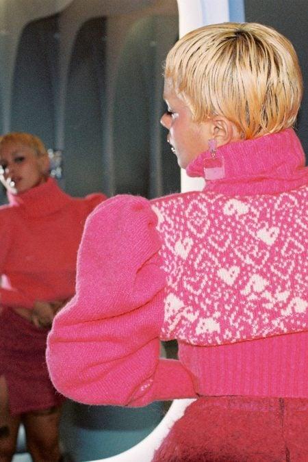 Le pull PINK LADY col roulé - MaisonCléo