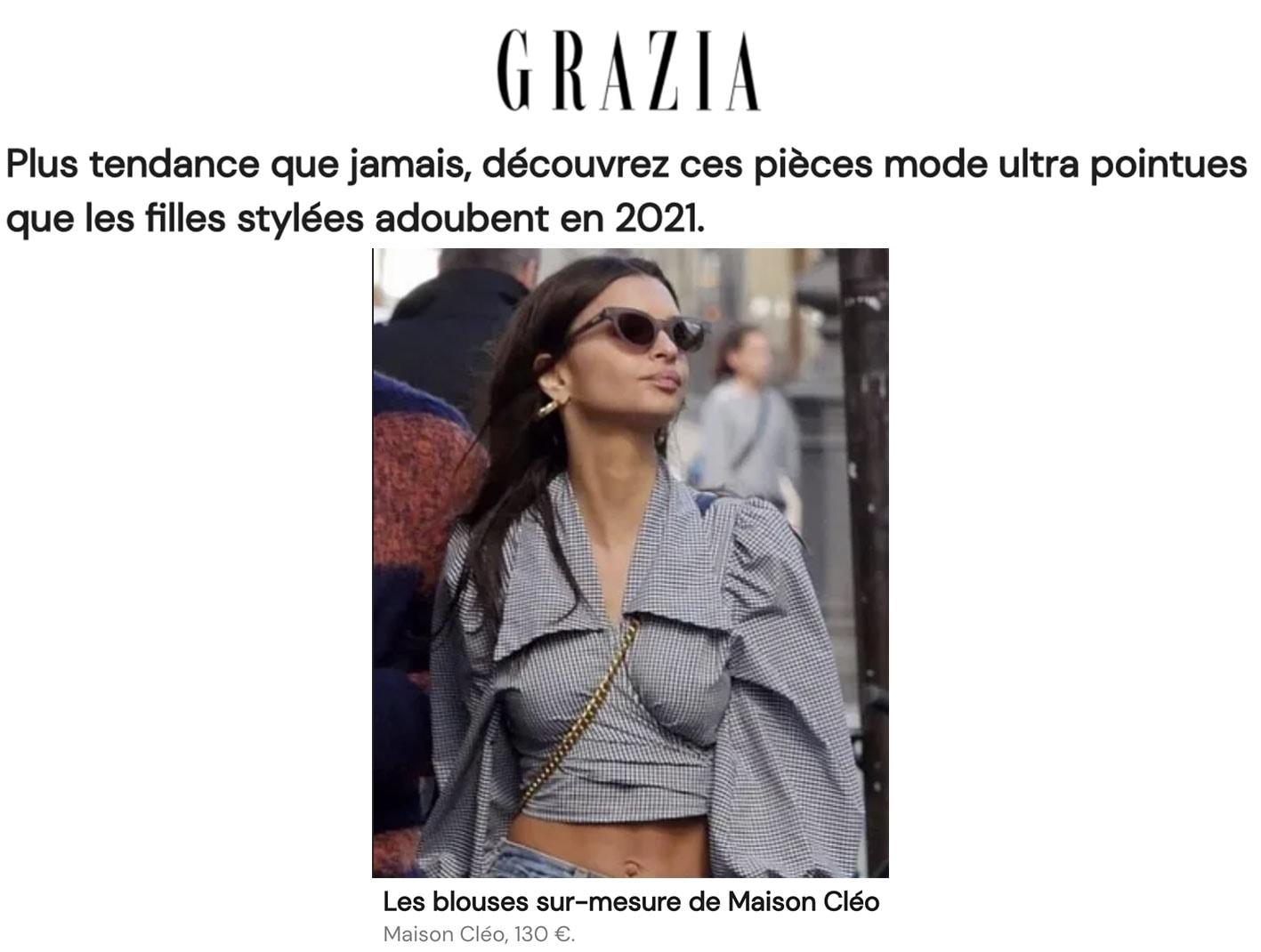 grazia FR / MaisonCléo