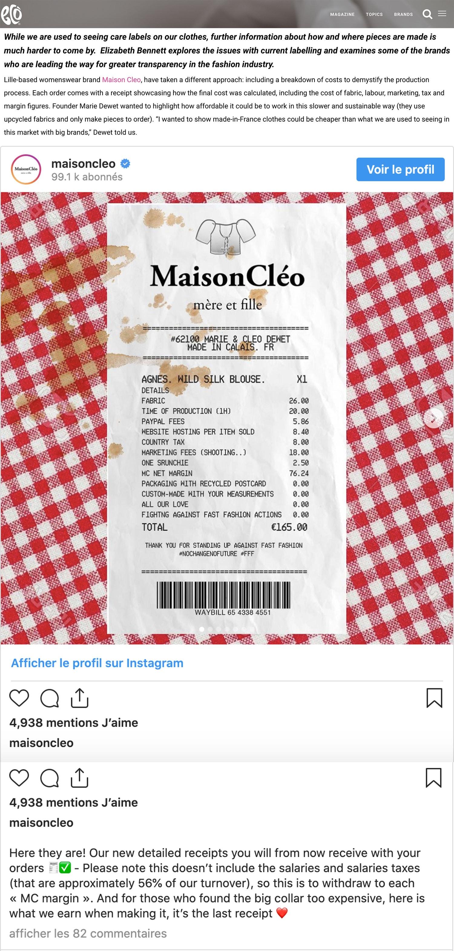 eco / MaisonCléo