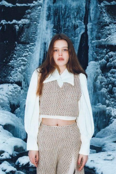 YASHA dark brown wool cardigan - MaisonCléo