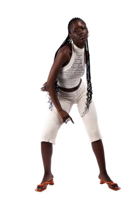 Pantalon corsaire tricoté Chris - MaisonCléo