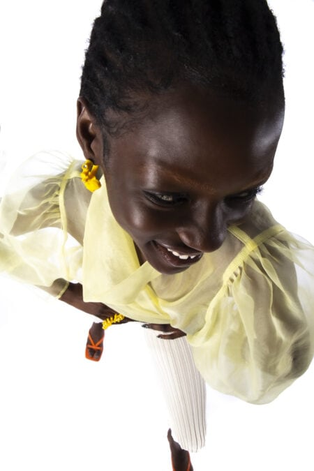 READY TO SHIP : JULIE YELLOW sheer silk blouse - MaisonCléo