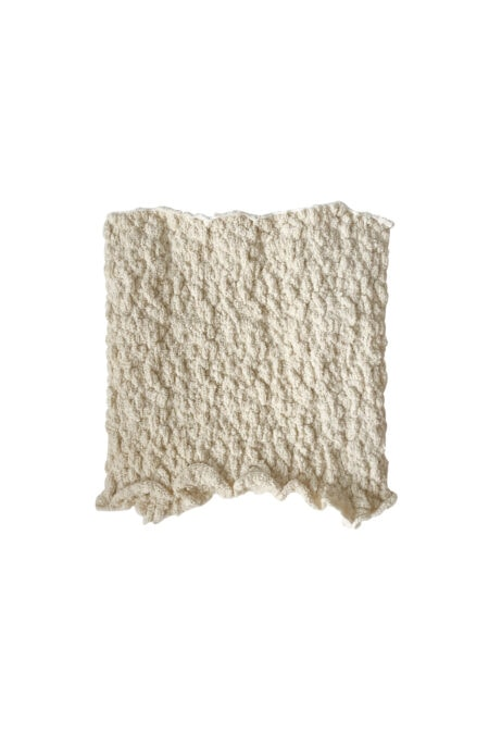 MANU ivory knitted cotton bustier top - MaisonCléo