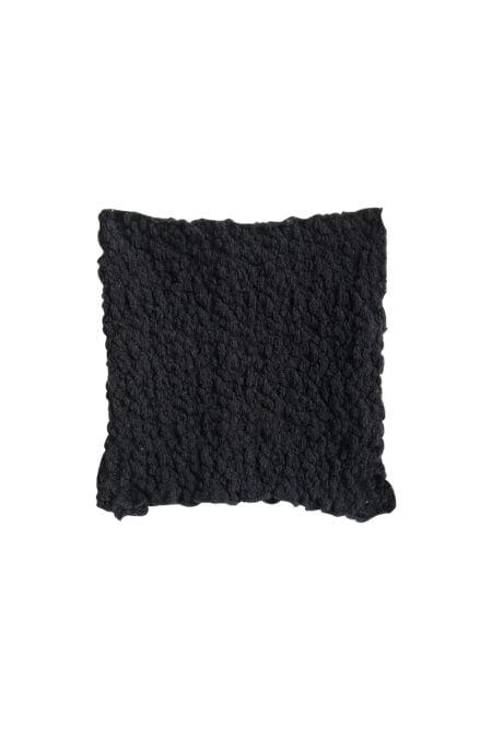 Top bustier noir en coton tricoté MANU - MaisonCléo