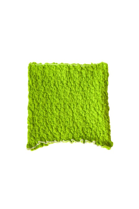MANU neon green knitted cotton bustier top - MaisonCléo
