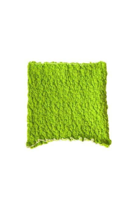 Top bustier vert fluo en coton tricoté MANU - MaisonCléo