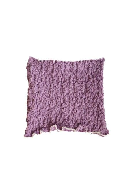 Top bustier lilas en coton tricoté MANU - MaisonCléo