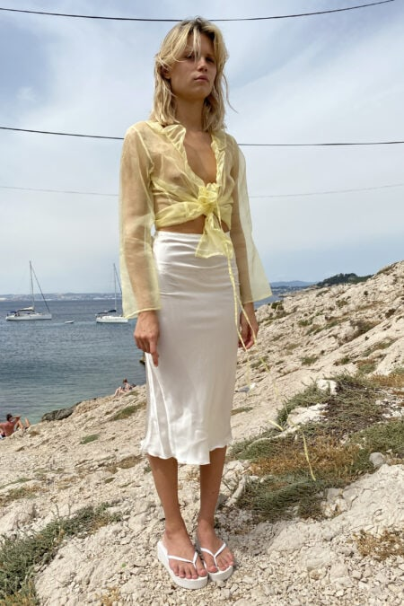 READY TO SHIP - GISELA organza yellow blouse - MaisonCléo