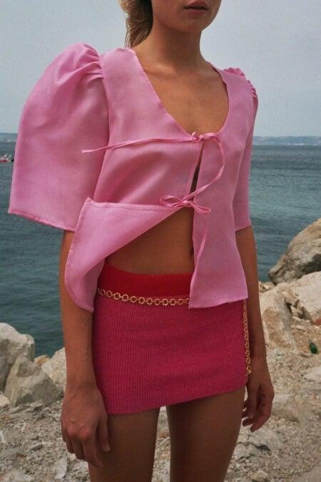 Jupe tricotée 2 couleurs LILOU - MaisonCléo