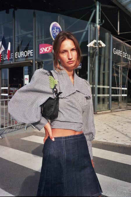 Mini jupe en jean SOPHIA - MaisonCléo