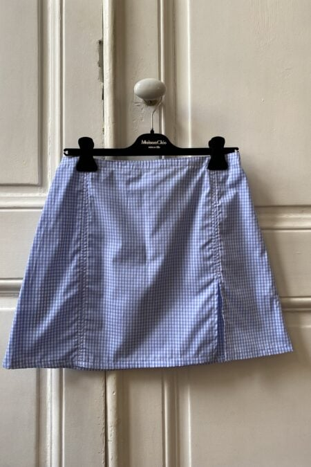 Ready to ship - SOPHIA BLUE GINGHAM MINI SKIRT - MaisonCléo
