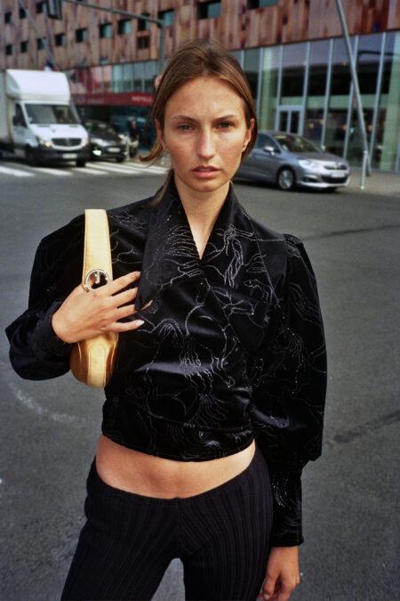 JULIE couture glitter horses velvet blouse - MaisonCléo