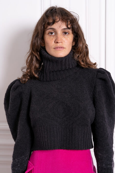 The dark LADY knitted turtleneck sweater - MaisonCléo